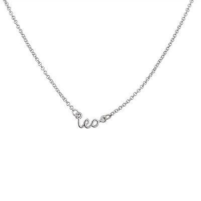 Lux Horoscope Zodiac Sign Leo Silver Necklace