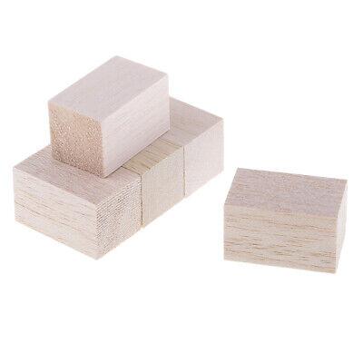 Holzwürfel Natürliche Holzblöcke Verschönerung Für Handwerk ()