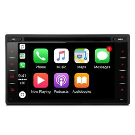 6.2 inch Apple CarPlay Android Auto Navigation System with Bluetooth, USB, SD Car Multimedia Stereo