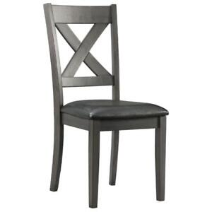 Alexa Transitional Dining Chair - Grey