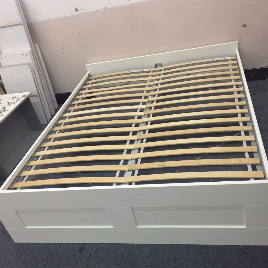 ikea brimnes bed double with luroy slats in new cross london gumtree. Black Bedroom Furniture Sets. Home Design Ideas