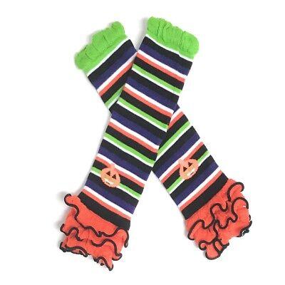 Halloween Leg Warmers Toddler (Baby Girl Toddler Halloween Pumpkin Leg Warmers Socks Orange Newborn)