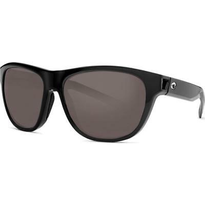 0b2b36dda836d New Costa Del Mar Bayside Polarized Sunglasses 580P Black Gray Men Women