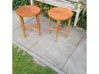Pair of Retro Teak Fold Up Side Tables