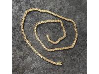 9ct Gold Men Chain 27inch 40gram