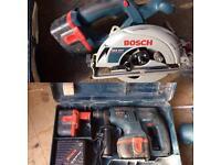 Bosch hammer drill & circular saw
