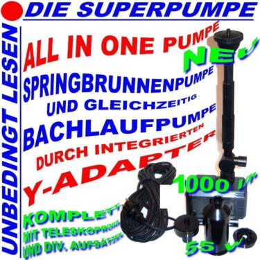 All In One 1000l H Teich Pumpe Y Teichpumpe Filter Bachlauf Neu In