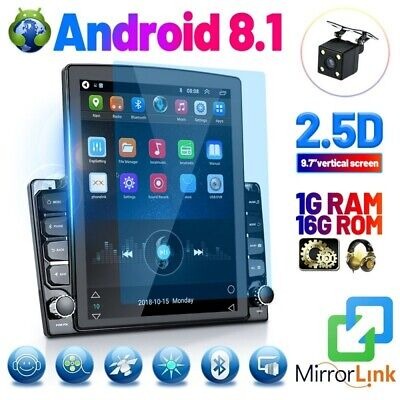9.7 inch Double 2Din Car Stereo Radio Android 8.1 Touch Screen MP5 Player 2.5D