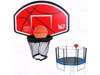 Trampoline Basketball Hoop Board Fits To Safety Net Pole