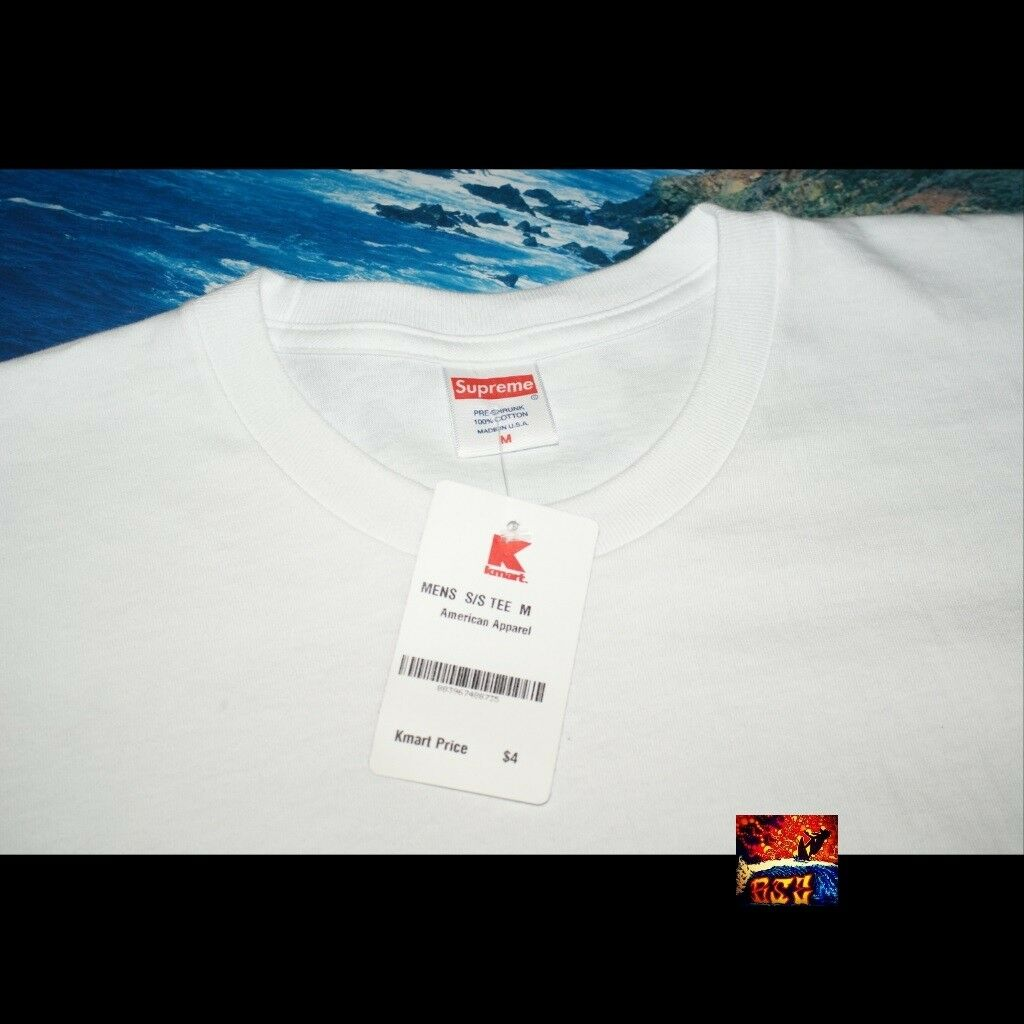 Supreme Box Logo Short Sleeve T-Shirt Size Medium Kmart Blank Bogo Black