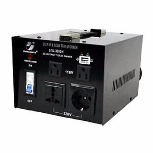VOLTAGE CONVERTER / VOLTAGE TRANSFORMER  220V-110V / 110V-220V STEP UP STEP DOWN 200 WATT FOR $19.99