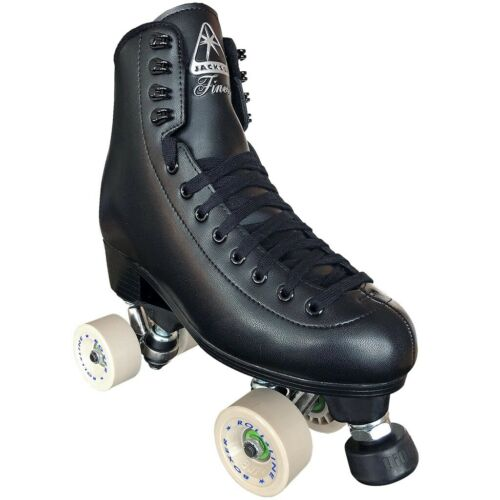 Jackson Finesse Viper Quad Roller Speed Skates with Beige Roll Line Boxer Wheels