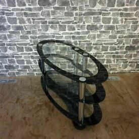 Glass Oval TV Stand