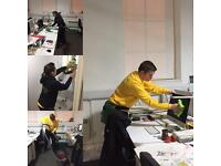 Busy McB's. Office & Stair Cleaning. End of Tenancy & Domestic Cleaners. Professional Cleans.