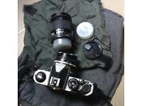 Nikon FM2 Metal body plus two lenses