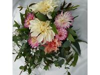Wedding flower package. Super fresh locally grown Scottish flowers