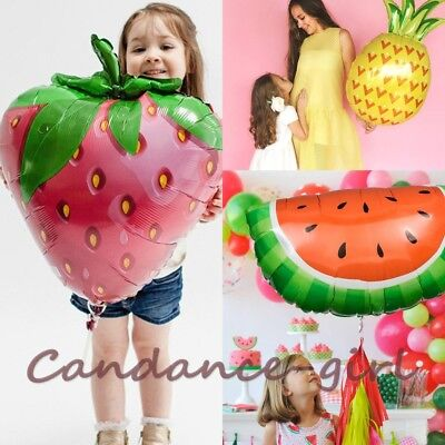 Cute Fruit Foil Balloon Pineapple Watermelon Strawberry Balloon Party Decor 1Pc - Watermelon Party Supplies