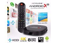 Sumvision Cyclone X8 Android 4K TV Box Octa Core KODI HD Media Player HDMI