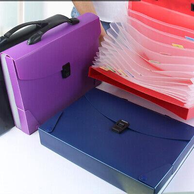 File Folder Storage Bag Accordion Portable Paperwork A4 Letter Organizer Holder