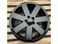"Audi TT V6 Ronal Wheels 18"" 5x100 Original Alloys Satin Black 8N0601025T"