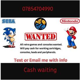 Sega games and consoles wanted