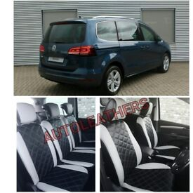 LEATHER CAR SEATCOVERS FOR VOLKSWAGEN SHARAN SHARON SEAT ALHAMBRA