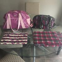 Lululemon retro duffle bag and Betsy Johnson