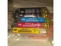 Canon PGI-550PGBKXL CLI-551BKXL CLI-551CXL CLI-551MXL CLI-551YXL Compatible Ink