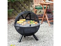 """FIRE MOUNTAIN - ARUBA 24"""" STEEL MESH FIRE PIT - WITH BBQ GRILL - ONLY £70"""
