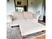 SOLD elegant and IMMACULATE large 2 / 3 seater fabric sofa