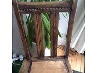 Vintage solid wood chair with barley twist legs kitchen bedroom