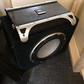 Vibe bass box and jbl amp