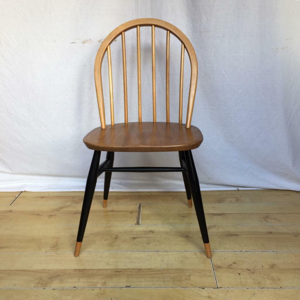 Vintage Ercol Windsor 370 Dining Kitchen Desk Chair 1960s