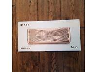 KEF MUO Wireless Bluetooth Speaker - Champagne Gold