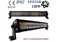 "120W 24"" LED Light Bar Spot+Flood Work Drivin Lamp Off road 4x4 SUV,PICKUP Recovery Truck"