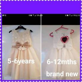 5-6years dress and 6-12mths dresses