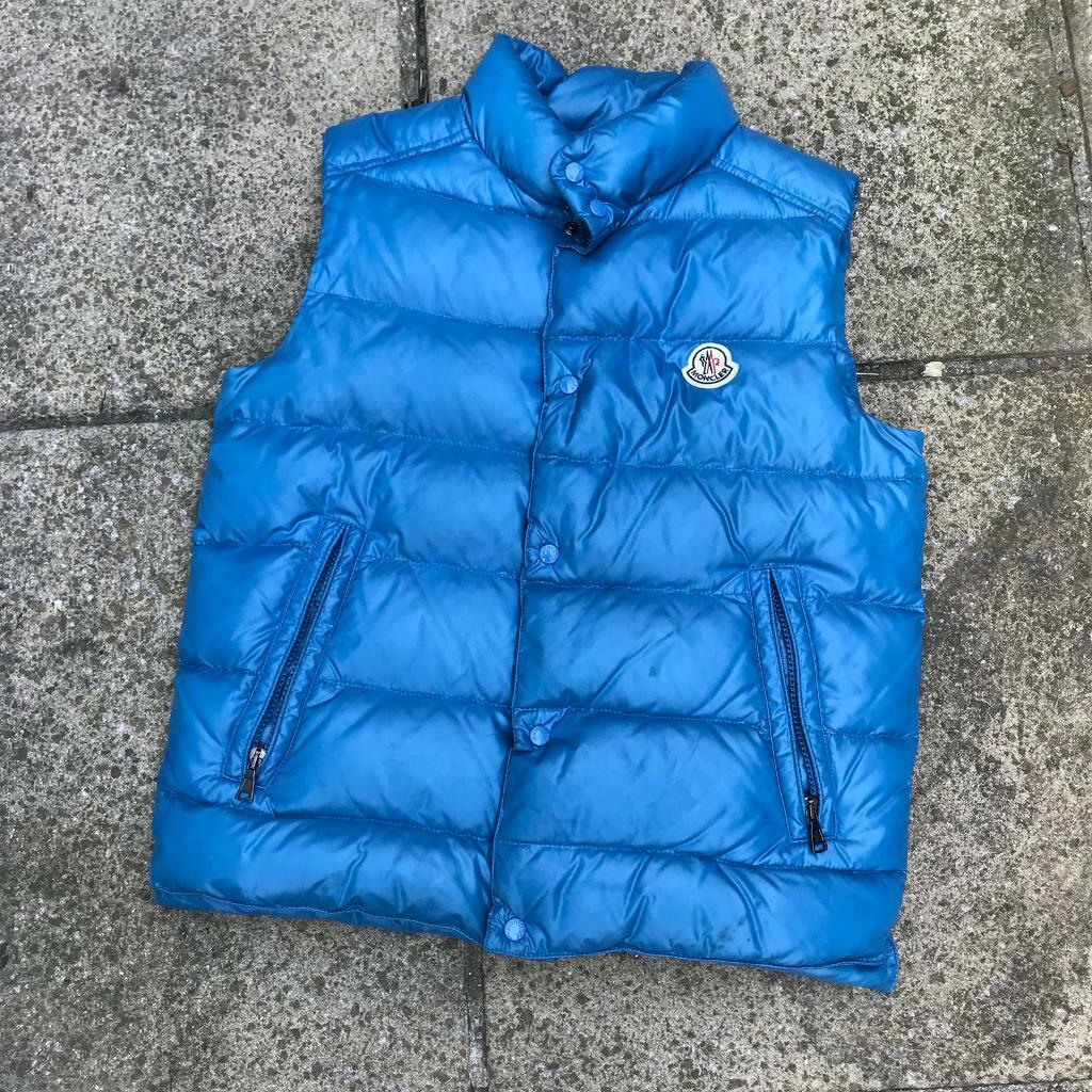 Moncler blue gilet body warmer 12 years