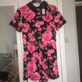 Rose Playsuit with collar Size 10