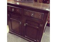 Solid oak vintage sideboard