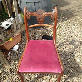 Antique Regency dinning chairs xe