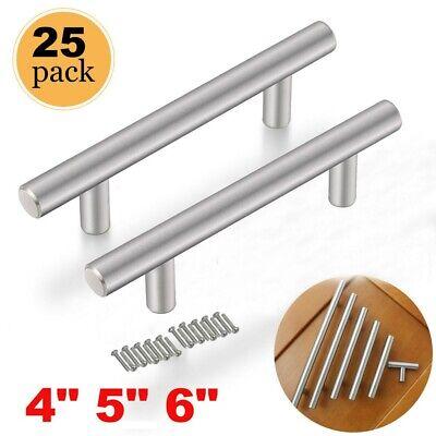25 Pack Stainless Steel Kitchen Cabinet Door Knob T-Bar Drawer Handle Pulls Set