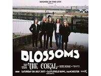 2 x Blossoms tickets Castlefield Bowl Manchester Saturday 8th July