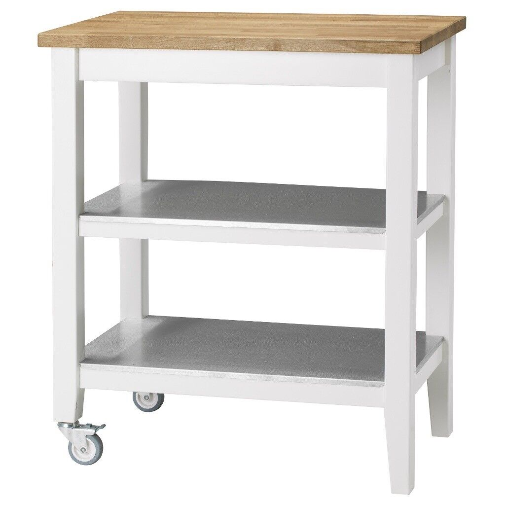 Ikea Kitchen trolley STENSTORP White/oak | in Wood Green, London ...