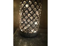 Crystal silver lamp / lantern