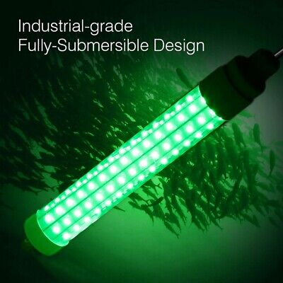 10W LED Green Underwater Fishing Light Lamp Fish Attract 10 Meters DC12/24V