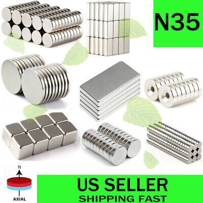 1050100pcs Super Strong Block Round Disc Magnets Rare-earth Neodymium Magnet