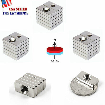 Lot Strong Neodymium Magnet With Hole Rare Earth Diy Industrial 20mm10mm4mm