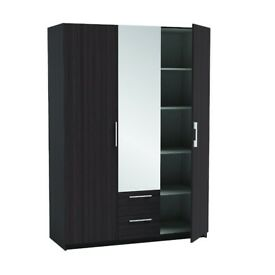 BRAND NEW 3 DOOR WARDROBE WITH MIRRORs IN BLACK OR WHITE AS IN 99.99