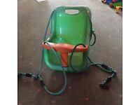 Swing seat green plastic baby/toddler