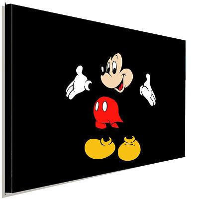 Micky Maus II Leinwandbild AK ART Kunstdruck Wandbild Wanddeko Mehrfarbig XXL ()